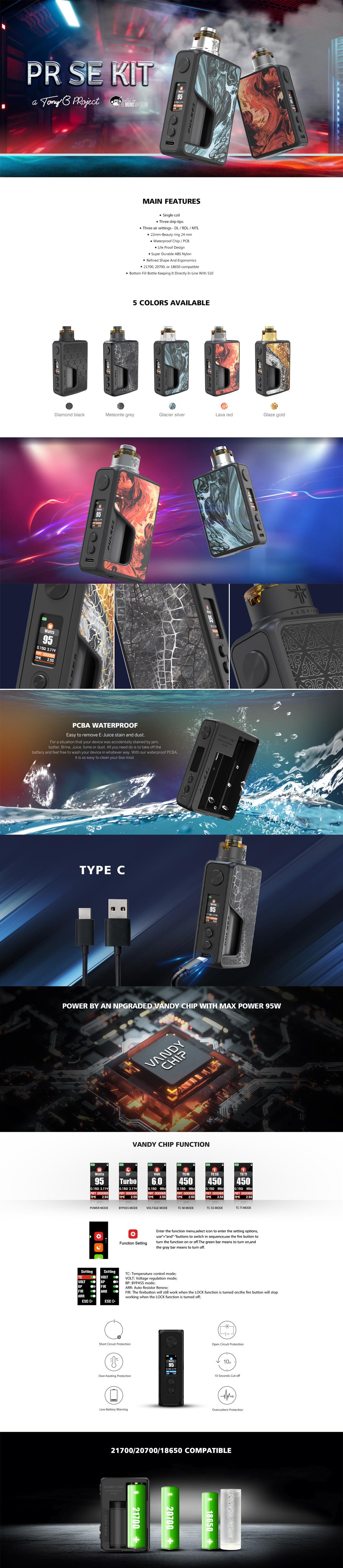 Vandy Vape PR SE kit by el mono vapeador